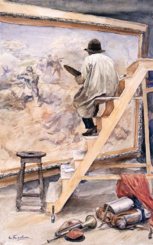 ÉMILE FRIANT  (1863-1932)  AUTOPORTRAITS   et autres tableaux...  /   merci Liseuse-Liseur ...