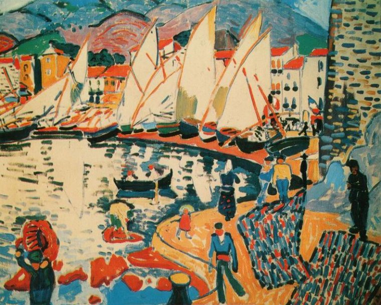 Le saint du jour  :  André... DERAIN  (1880-1954)   ,  FAUVISME ,   couleur ... couleur ...