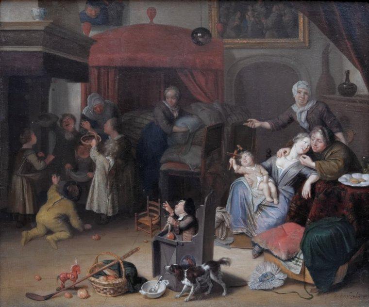 Richard   BRAKENBURG   (1650-1702)    :   la Fête de Saint Nicolas