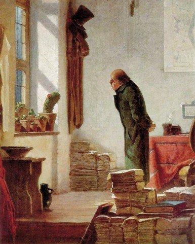 Caspar David  FRIEDRICH , peintre romantique allemand  (1774-1840)   : l'amoureux des cactus ,  1850