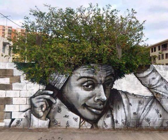 Quand l'art de la rue rencontre la nature ...