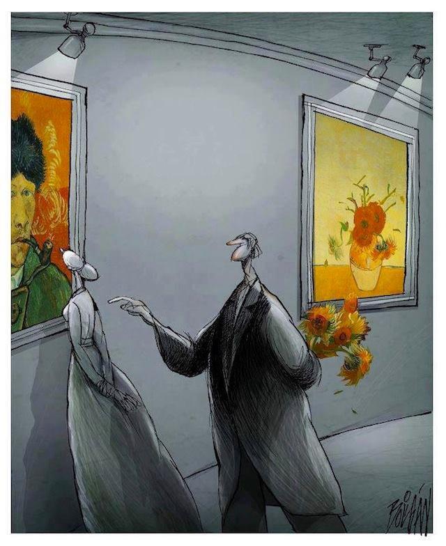 A cartoon by Angel Boligan