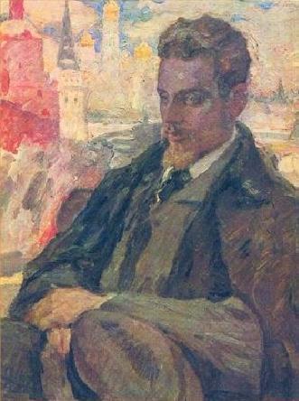 EAU QUI SE PRESSE , QUI COURT ...  Rainer Maria RILKE  (1875-1926)  peint par Leonid  PASTERNAK (1862-1945)