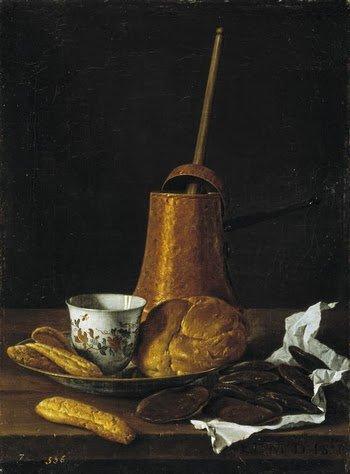 Goûter ...  Luiz Egidio Melendez  (1716-1780)    /   2  tableaux de Jean-Etienne Liotard (1702-1789)