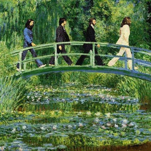 Détournement de Beatles chez Claude Monet ...