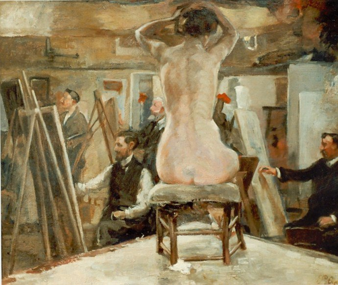 Henri  DE  BRAEKELEER  (1840-1888) , 2 tableaux  /   Pieter  OYENS  (1842-1894)  , 2 tableaux