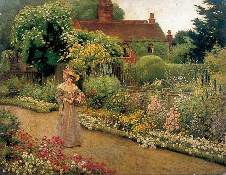 En attendant le printemps. . .  :  couleurs anglaises au jardin