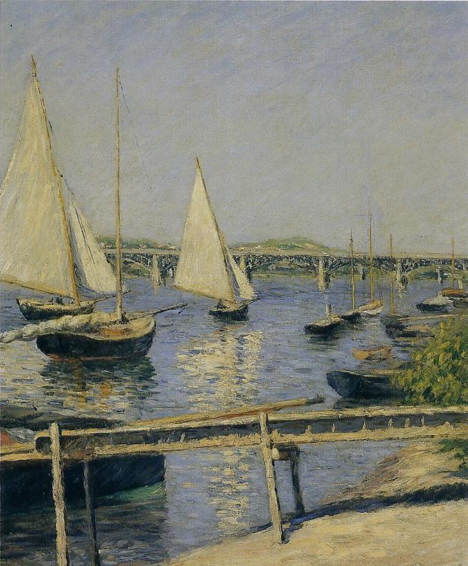 Journée mondiale de l'eau . . .  Les tableaux sont de  Gustave  CAILLEBOTTE  (1848-1894)
