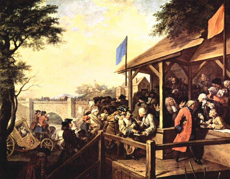 Avez-vous accompli votre devoir électoral ?   William HOGARTH  (1697-1764)