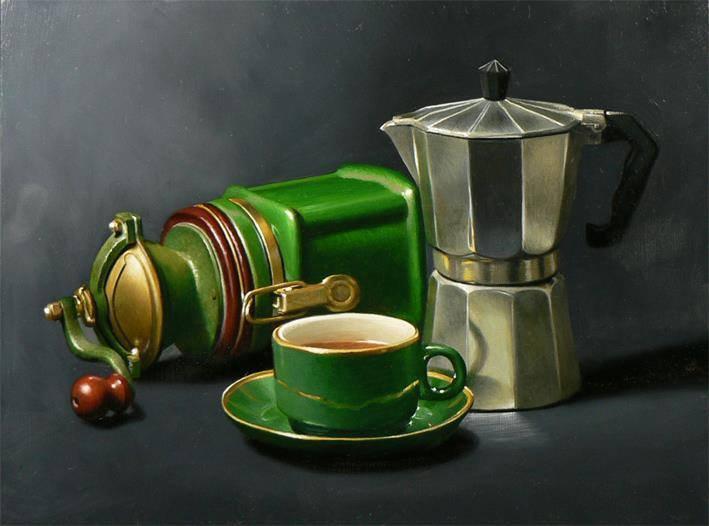 Paul Coventry-Brown , peintre anglais contemp   . . . Un p'tit café ?