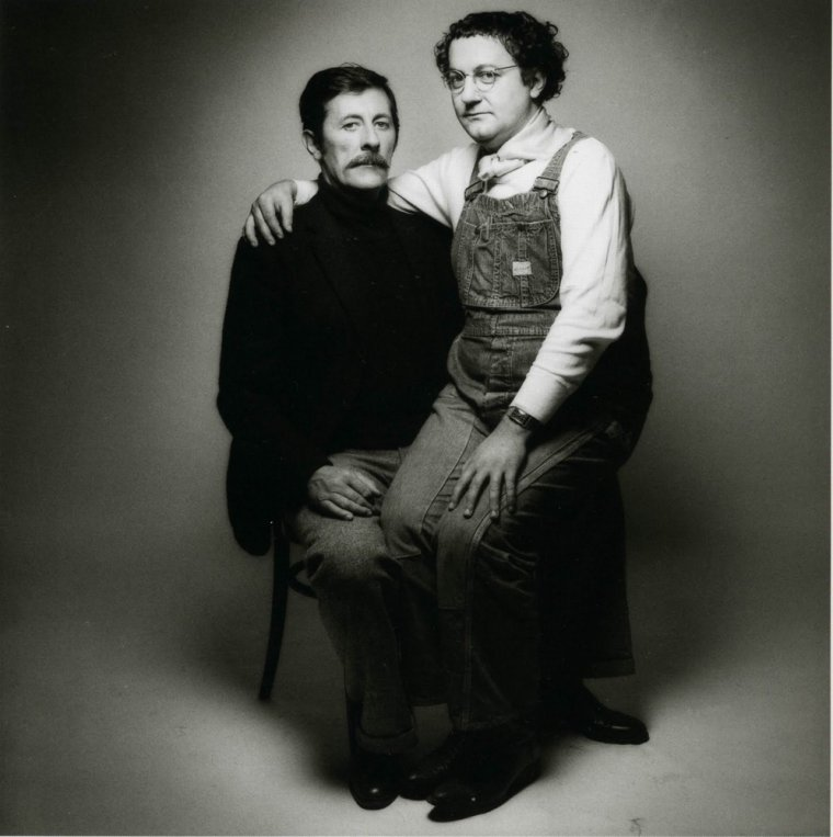 Coluche & Jean Rochefort by Jeanloup Sieff 1975