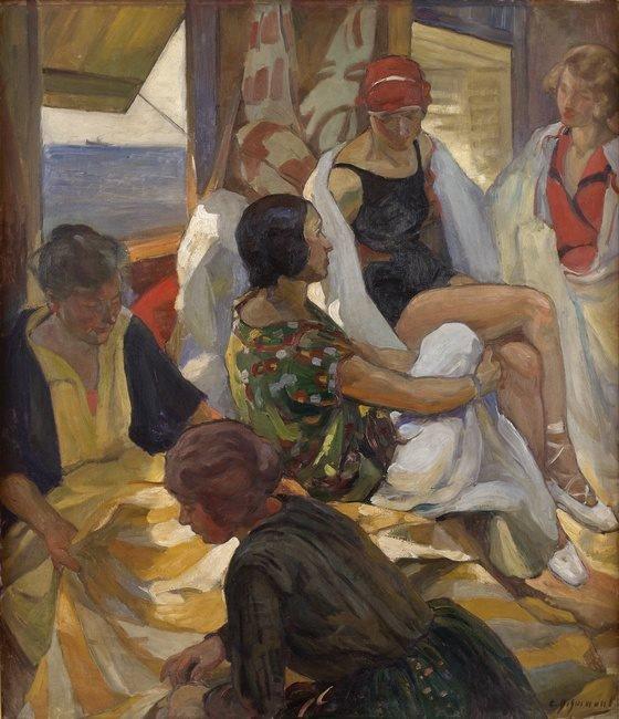 """COUPS DE COEUR :  """"La cabine des bains"""" d'Ernest Desurmont-Duvillier (1870-1930)   /   Ernest Quost (1844-1931)  /  1890"""