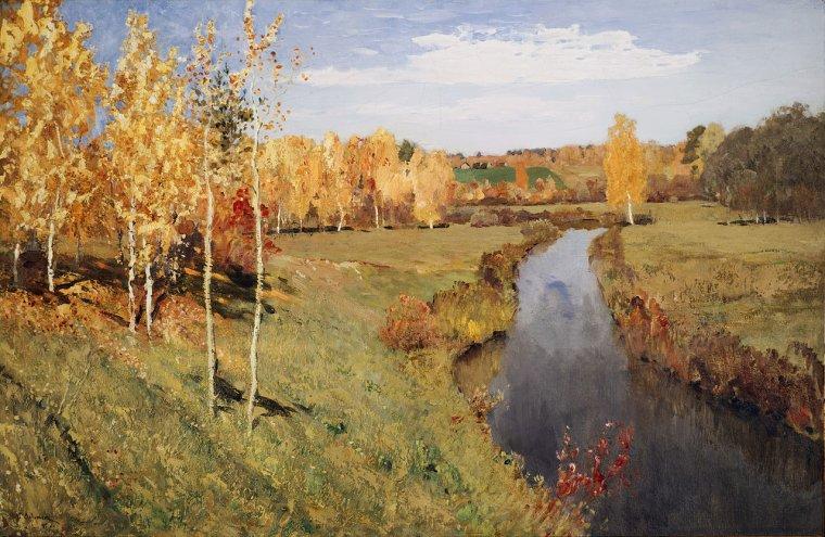 Isaac Levitan  (1860-1900)  :  l'automne doré , 1895
