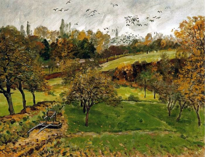 Alfred Sisley (1839-1899)  :  Louveciennes en automne