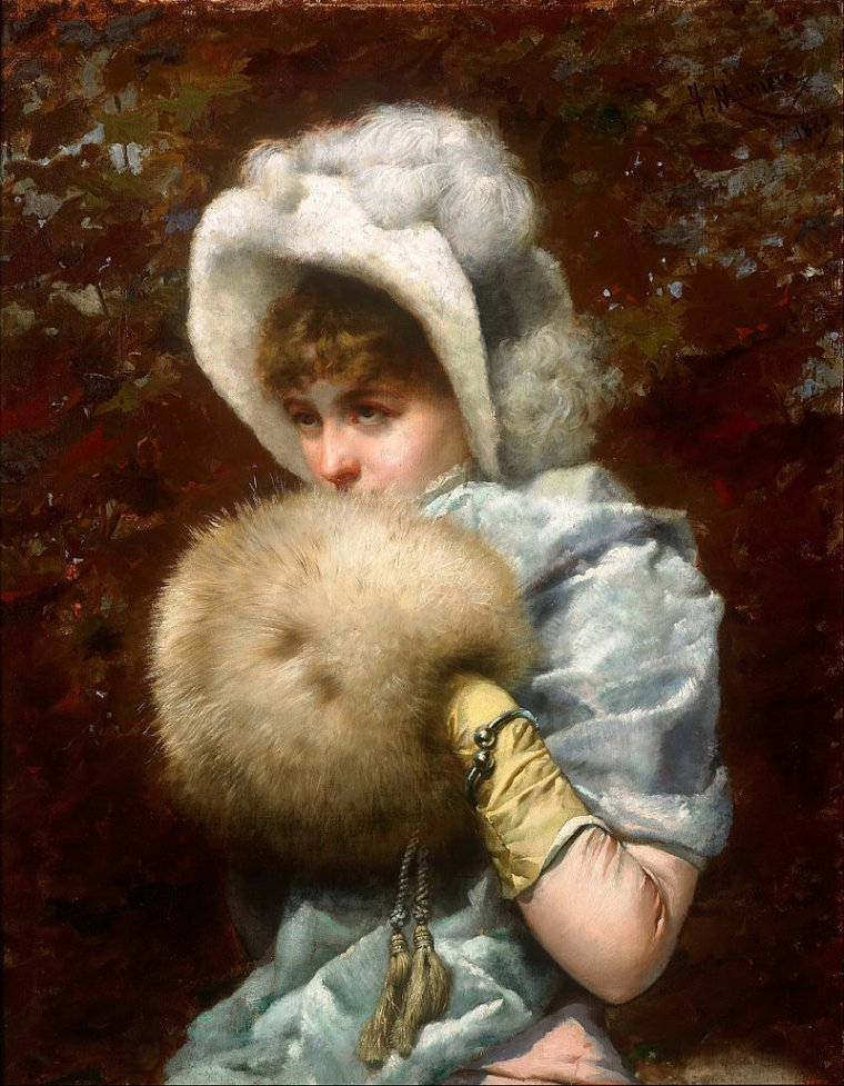 Attention , le froid arrive ! ...  Francesco Masriera y Manovens  ,  peintre espagnol  (1842-1902)