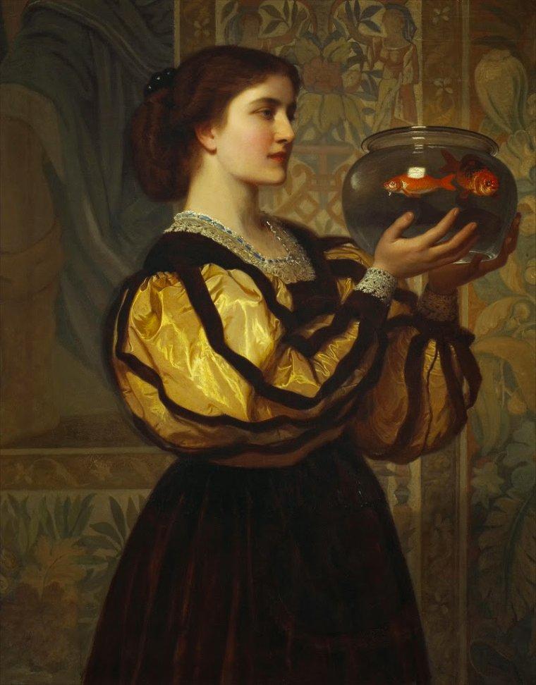 Charles-Edouard  PERUGINI  , peintre anglais (ère victorienne) , d'origine italienne  (1839-1918)