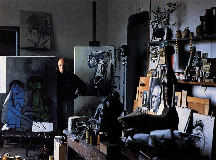 Pablo Picasso , 7 rue des Grands Augustins  /   Alexander Liberman , 1965