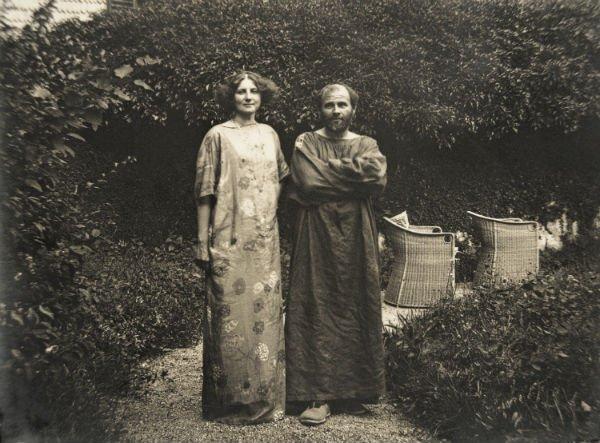 Gustav Klimt et Emilie Flöge en 1910