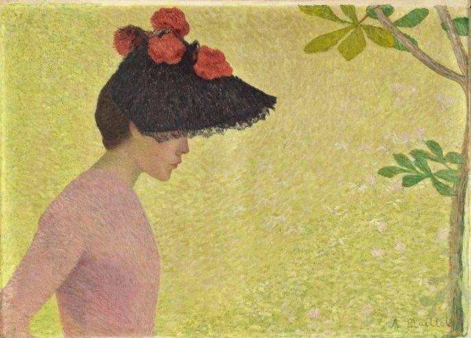 Aristide Maillol  (1861-1944)  : profil de femme  , 1896