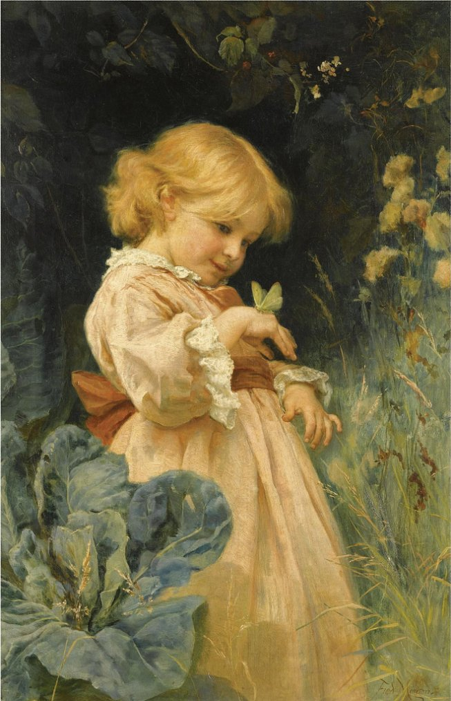 Frederick Morgan  (1847-1927)  : The butterfly