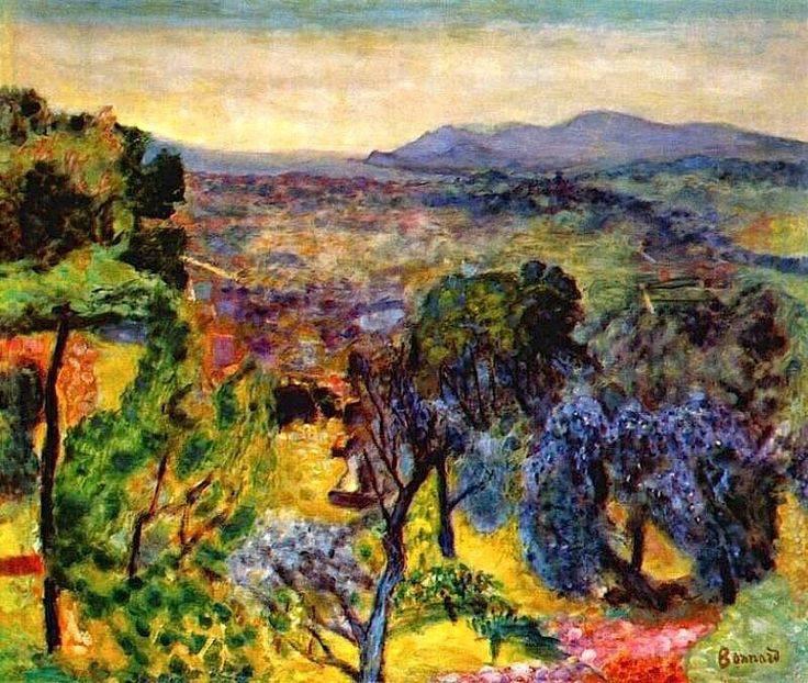 """Pierre Bonnard (1867-1947)  """" Red Roof and Mimosas.""""   Une excellente année à toutes et à tous !   :-)"""