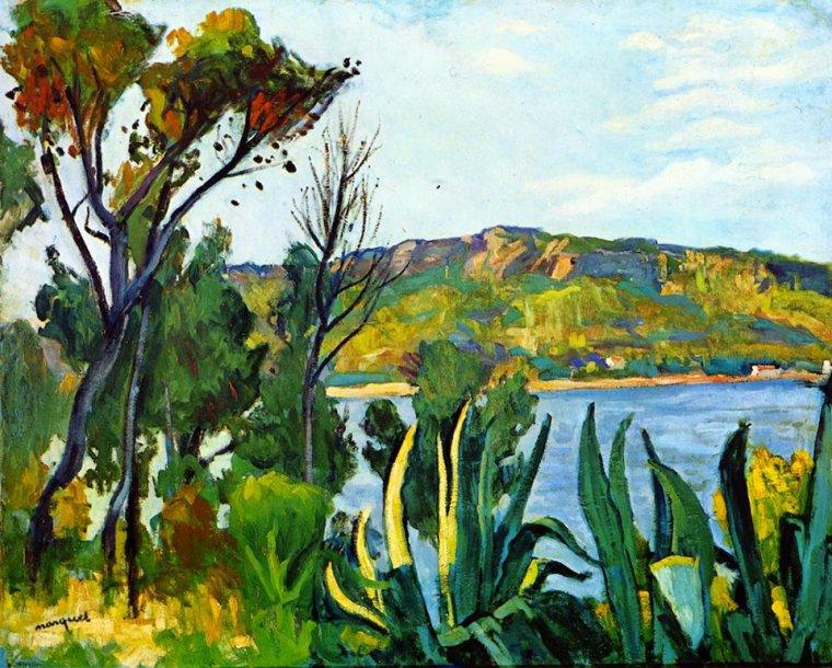 Albert Marquet (1875-1947)  :  vue d' Agay