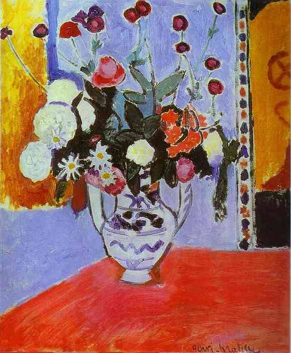 "Pour  MICHEL  DELPECH   :  Henri Matisse (1869-1954) "" Vase with Two Handles (A Bunch of Flowers)."""