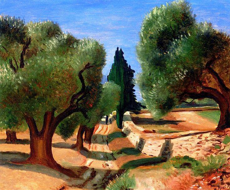 André Derain 1880-1954 Road among the Olive Trees in Provence.