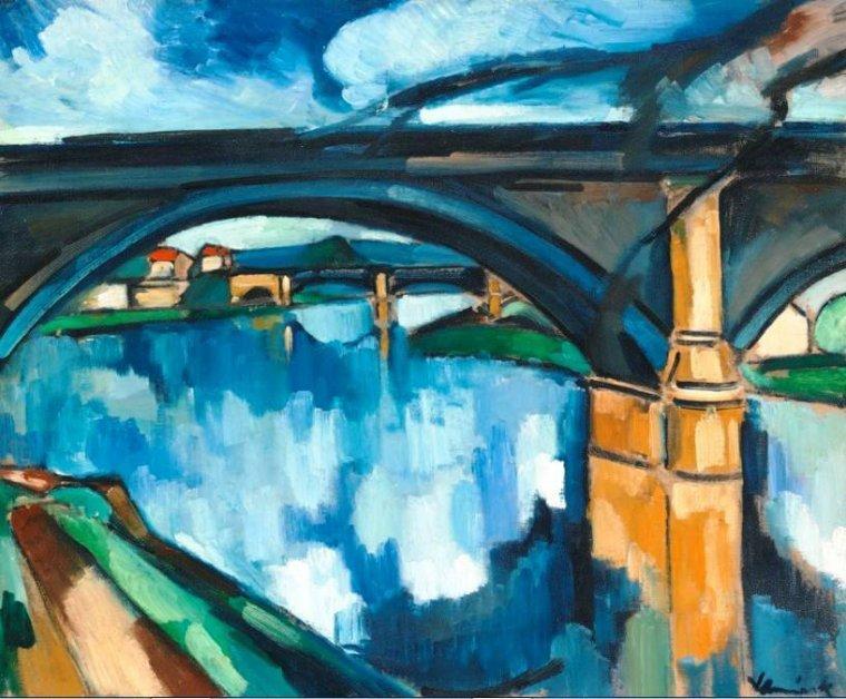 Maurice de Vlaminck ( 1876-1958 )  La Seine à Chatou