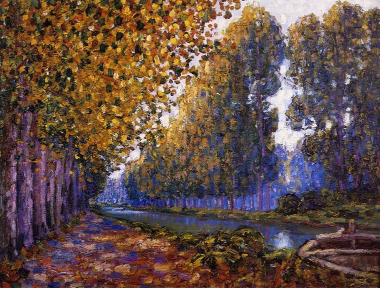 Francis Picabia  1879-1953  The Moret Canal, Autumn Effect