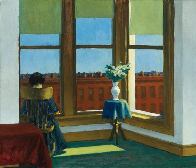 Edward HOPPER   :    Room in Brooklyn, 1932, Oil on canvas, 74 x 86,4 cm, Museum of Fine Arts, Boston