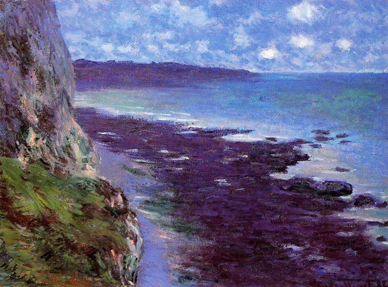 Claude Monet (1840-1926)  :  falaise près de Dieppe