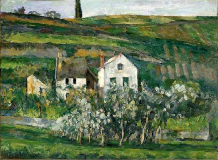 Paul Cézanne  1839-1906  Petites maisons près de Pontoise.