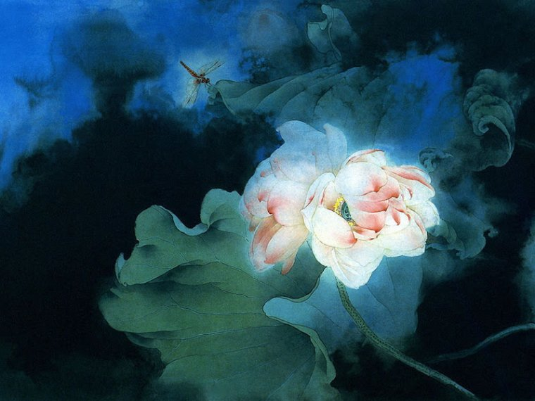 PRINTEMPS   :    J - 7 ...    Zou  CHUAN  AN  , artiste chinois(e) ? contemp.