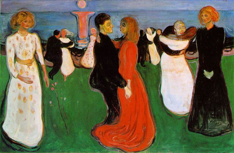Le 29 avril est la Journée internationale de la danse    /  Edvard  MUNCH  : la danse de la vie