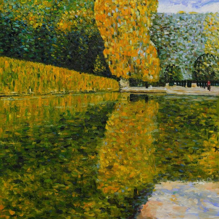 Klimt Gustav (1862-1918)  Park of Schönbrunn   : bonne fête Solange   !   ;-)