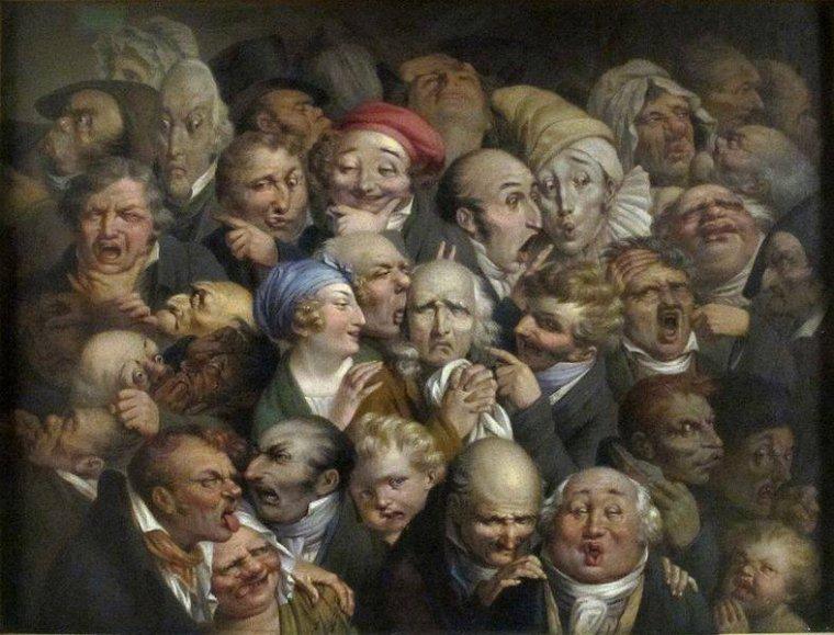 De quelle humeur êtes-vous ... ?   35 Expression Heads,   Louis-Léopold  BOILLY