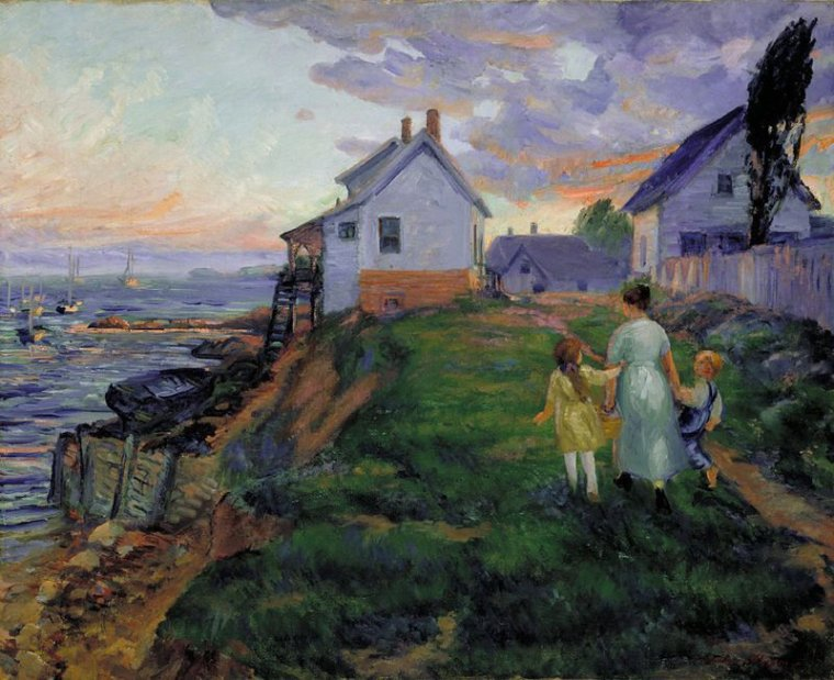 Evening, Rocky Neck, 1916  , John  FRENCH  SLOAN