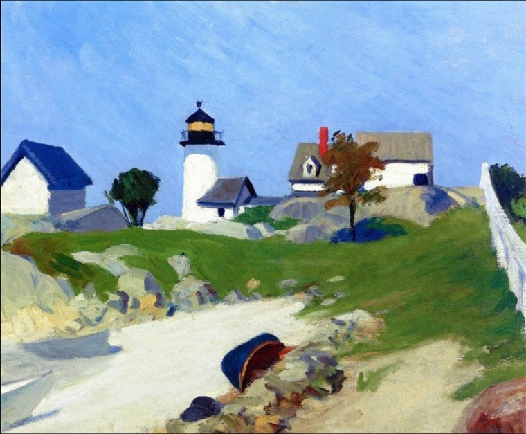 Squam Light, Annisquam, Massachusetts, Cape Ann, 1912  Edward  HOPPER.