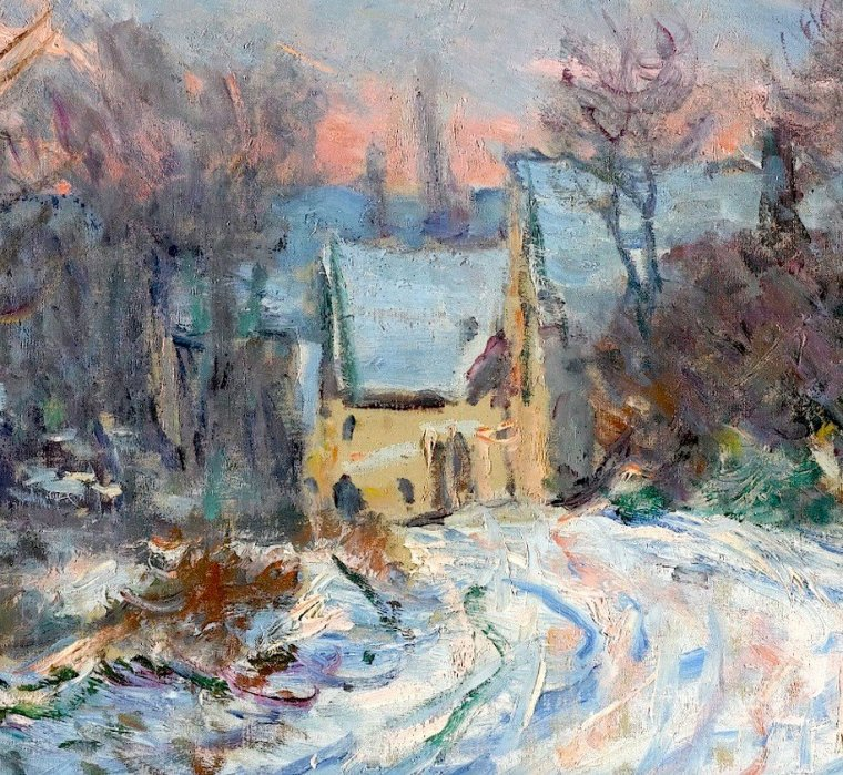 CLAUDE MONET  Giverny en hiver