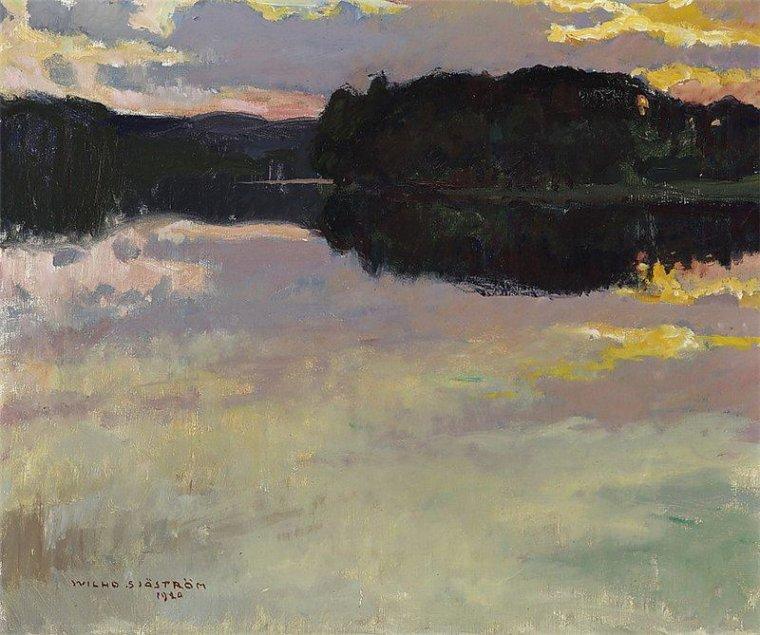 VILHO SJÖSTRÖM  (1873-1944) ,  Sunset  1920