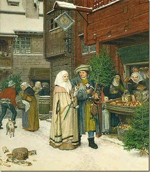 Georg von Rosenthal, Le marché de Noël, 1872