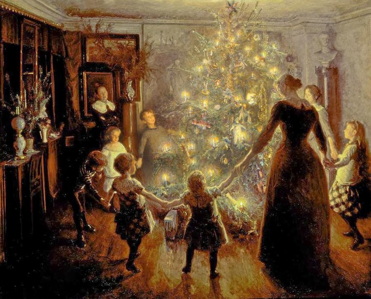 VIGGO JOHANSSEN  :   A Christmas Story /   silent night  1891