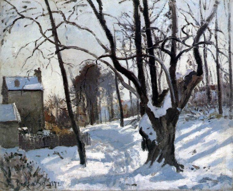 CAMILLE PISSARRO ,  Louveciennes  ,  1872