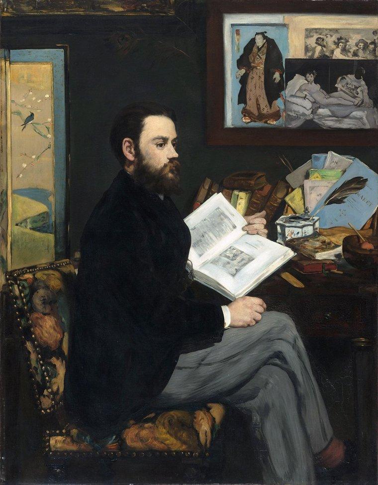 Edouard  MANET   (1832-1883)  :  jardins  /  lectrices  /   PORTRAIT  D'EMILE  ZOLA
