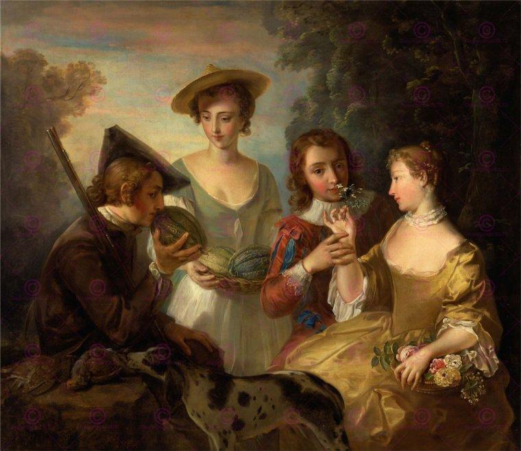 L'odorat, de Philippe Mercier (1689-1760)