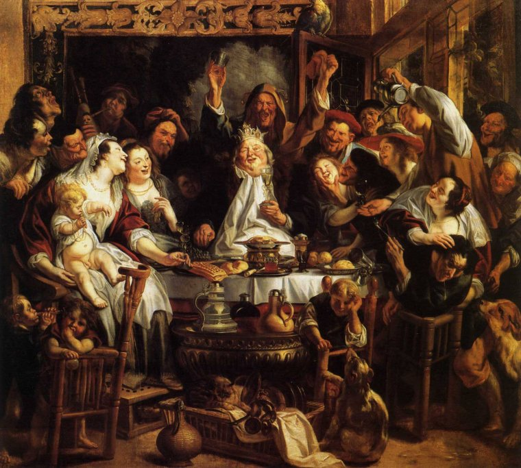 EPIPHANIE      Jacob JORDAENS, Hollande (1593-1678)