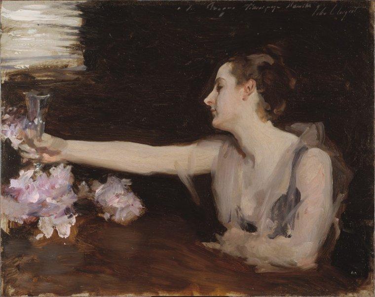 Madame Gautreau portant un toast, du grand portraitiste John Singer Sargent (1883)