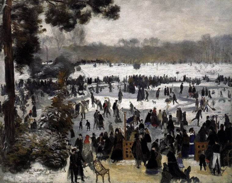 Pierre-Auguste Renoir, Skaters in the Bois de Boulogne  1868