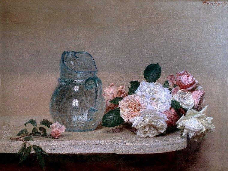 """Henri  FANTIN-LATOUR   """" Moi , je fais des fleurs """""""